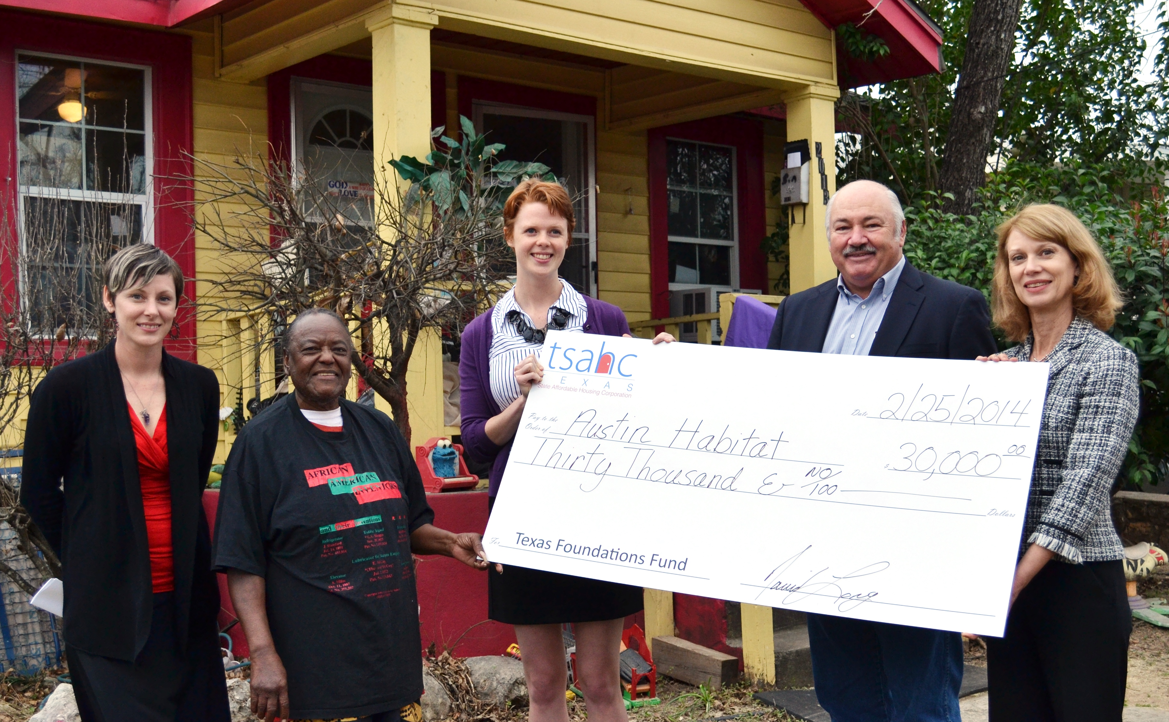 grant awarded to austin habitat for humanity texas state affordable housing corporation tsahc. Black Bedroom Furniture Sets. Home Design Ideas