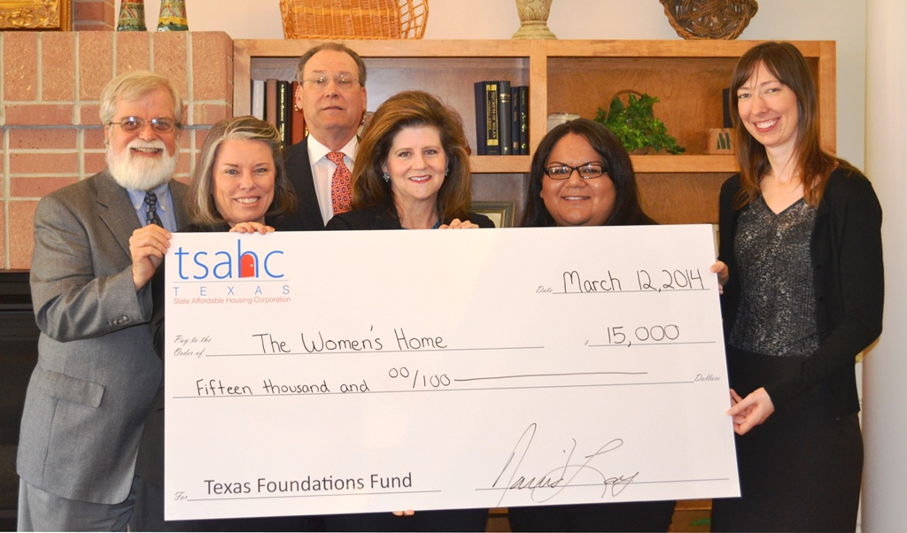 tsahc presents grant to the women 39 s home texas state affordable housing corporation tsahc. Black Bedroom Furniture Sets. Home Design Ideas