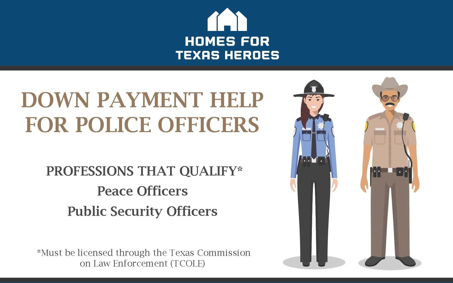 Police Officer Home Mortgage Loan: Texas Down Payment